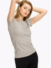 CN TEE SS GREY HEATHER -