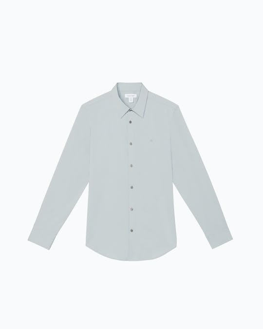 Stretch Cotton Solid Shirt -