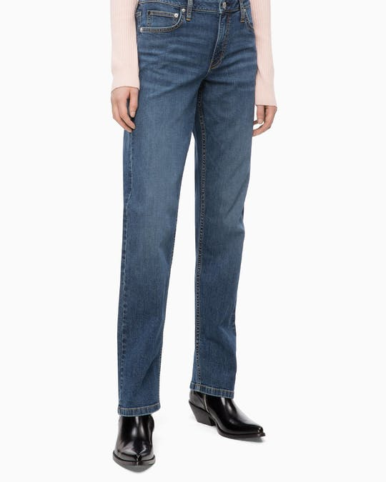 Ckj 031 Straight Leg Mid Rise Jeans -