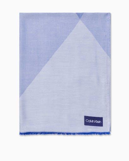 Diagonal Plaid Scarf -