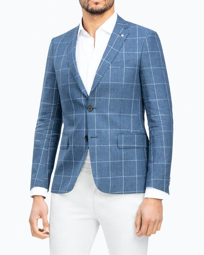Slim Fit Linen Sporting Blazer -