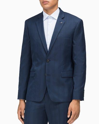 Suit Jacket Slim Fit Navy Glen Check -