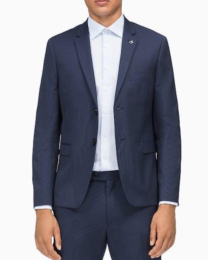 Suit Jacket X Slim Fit Ink Fine Stripe -