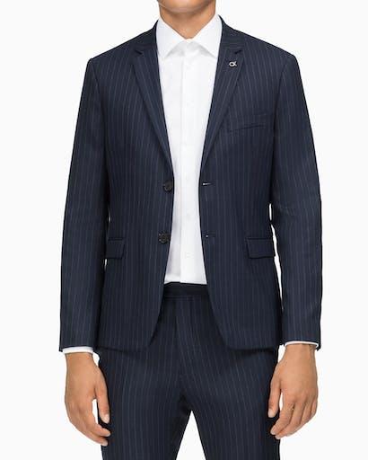 Suit Jacket X Slim Fit Slim Navy Pinstripe -