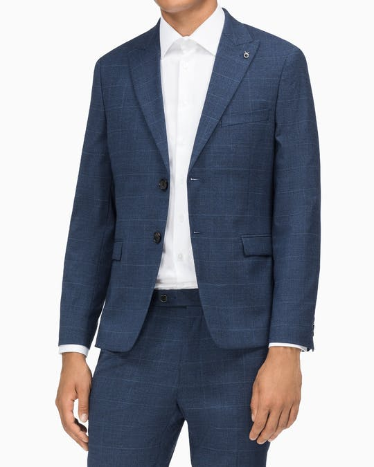 Suit Jacket X Slim Fit Slim Ink + Blue Window Check -