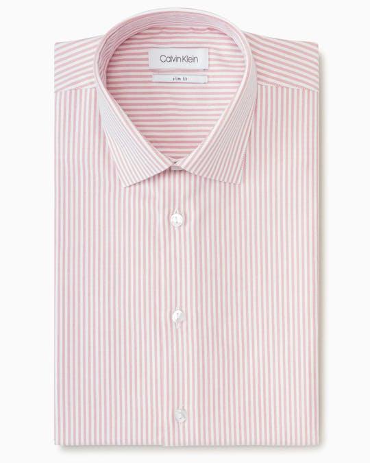 Business Shirt Red Dobby Stripe -