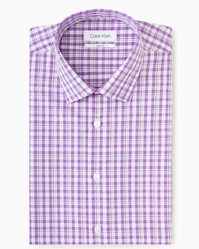 Business Shirt Purple Plaid -