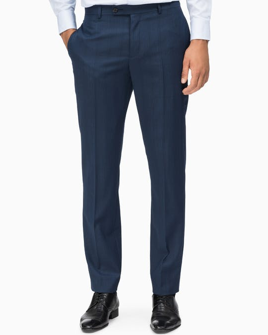 Suit Pant Slim Fit Navy Glen Check -