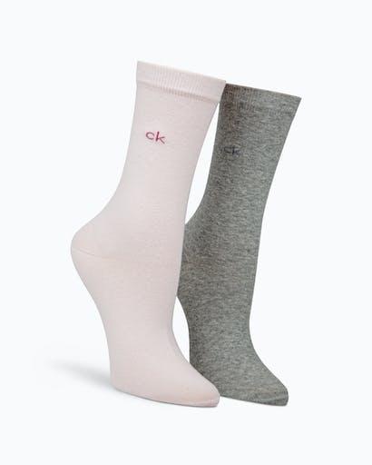2 Pack Flat Knit Socks -