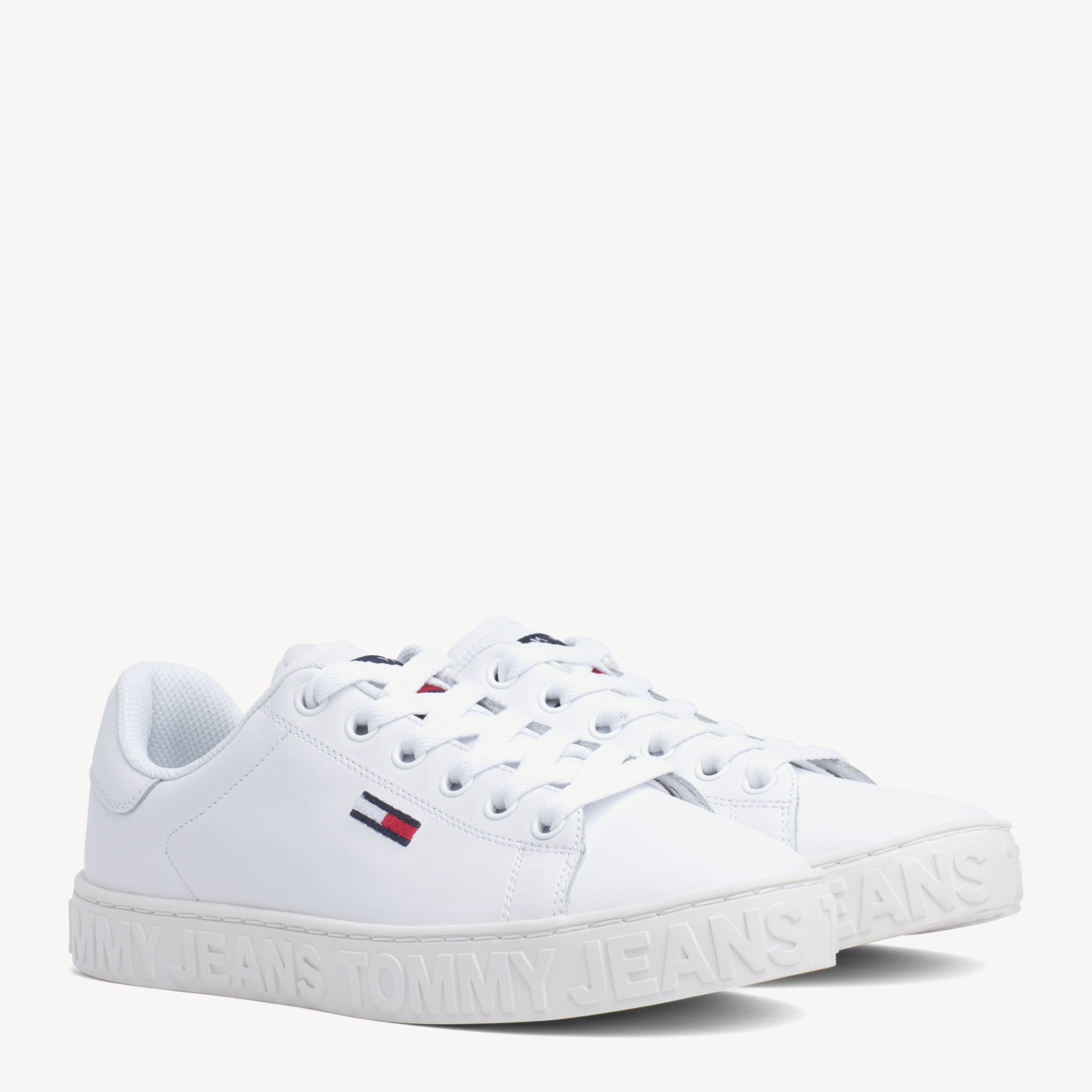 Embossed Leather Trainers   Shoes