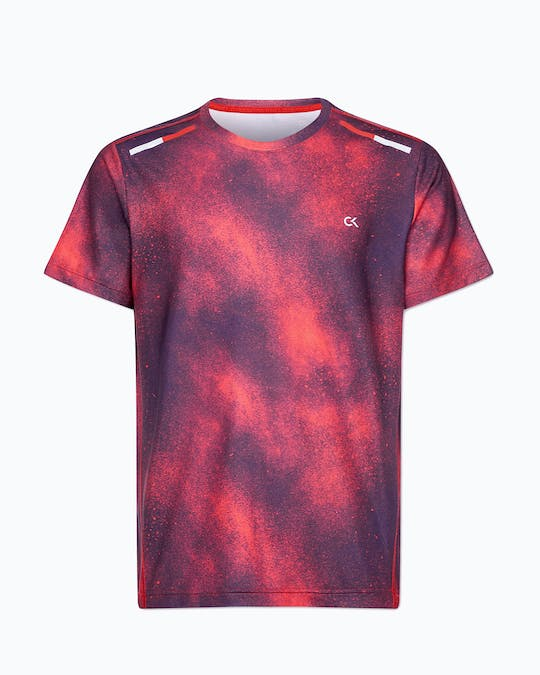 REFLECTIVE SS TEE FLASHING RED SPLATTER -