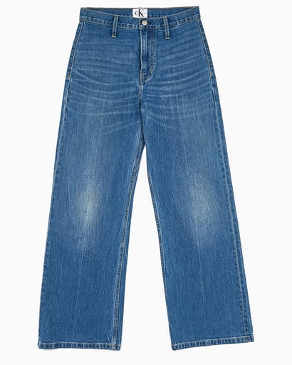 Wide Leg Ankle Jeans -