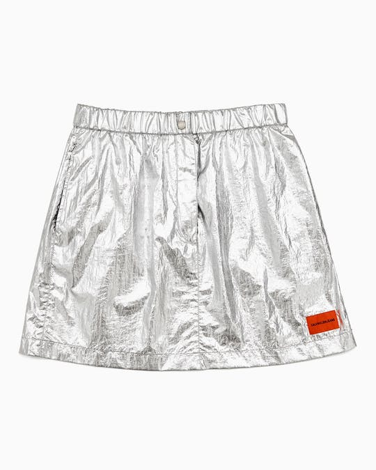 Silver Utility Skirt -