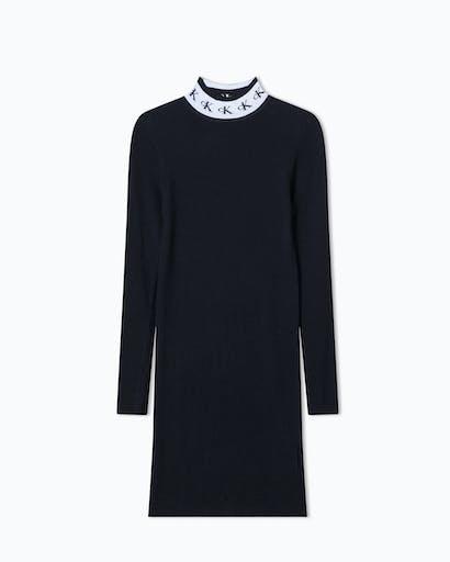 Monogram Tape Sweater Dress -