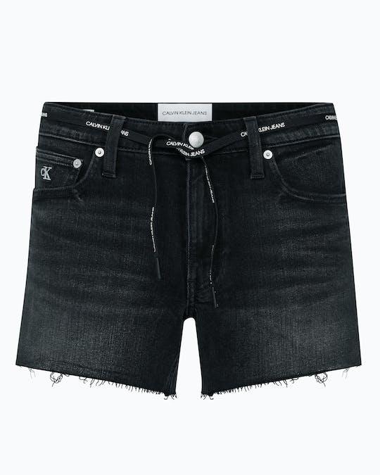 Tie Waist Denim Shorts -