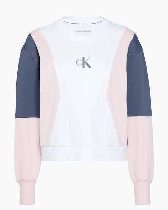 Oversized Colour Block Sweatshirt -