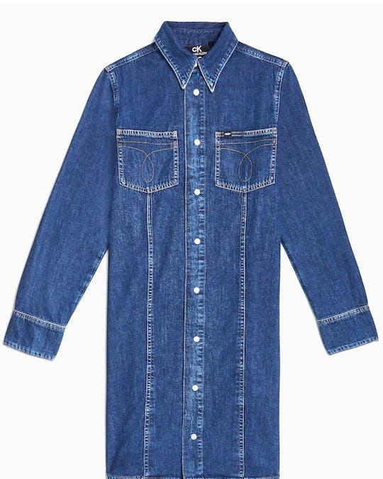 CK50 Denim Shirt Dress -