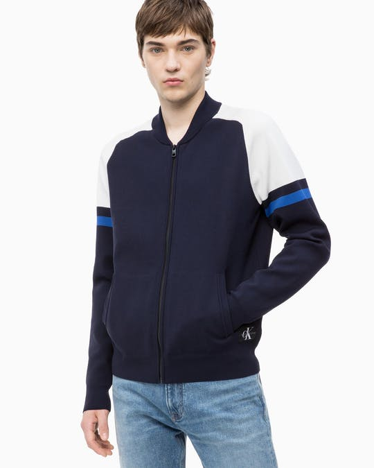 Nylon Zip Up Sweater -