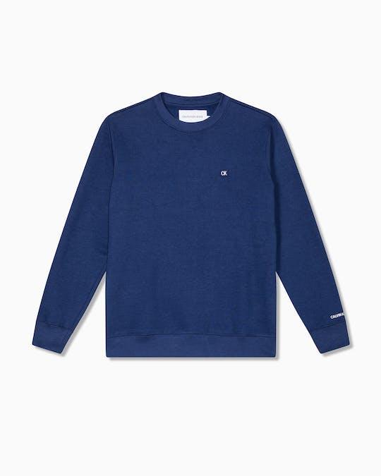 Chest Badge Crew Neck Sweater -