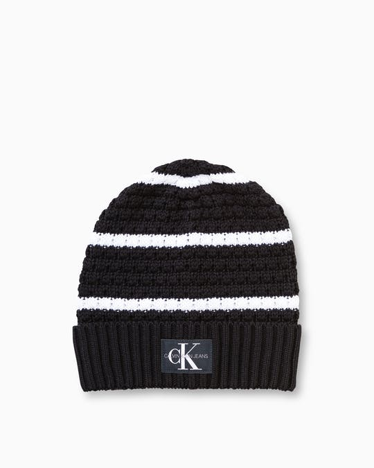 Ckj Knit Monogram Beanie Hat -