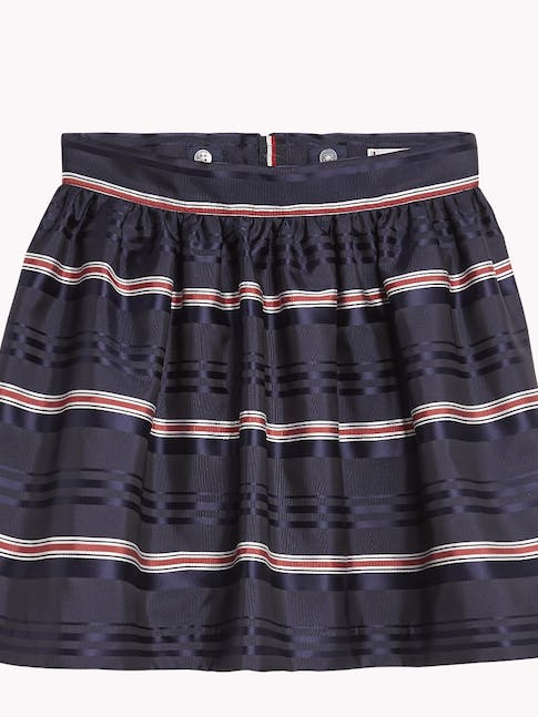 Girls 3-7 All-Over Stripe Skirt