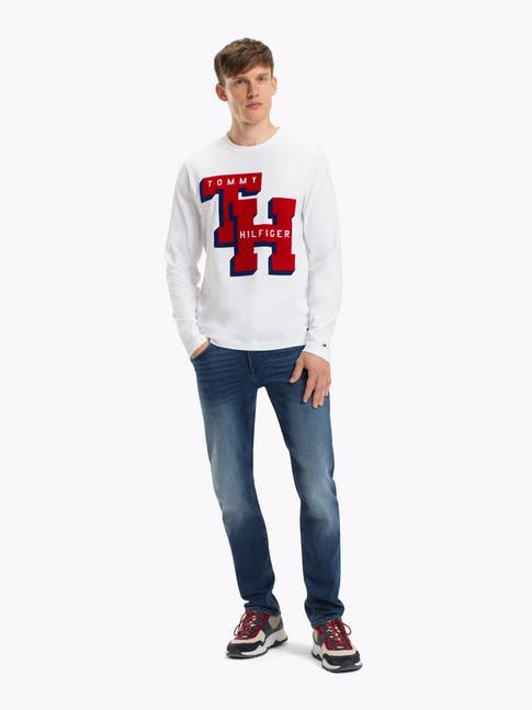 TH COLLEGE LS TEE BRIGHT WHITE -
