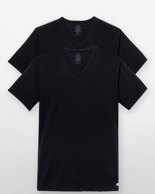 Cotton Stretch 2-Pack V-Neck T-Shirt -