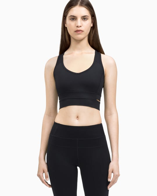 Performance V-Neck Longline Sports Bra -