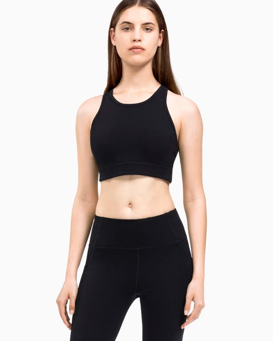 Performance Lattice Long Line Sports Bra -