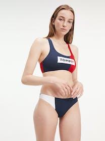 Colour-Blocked Cropped Bikini Bralette -